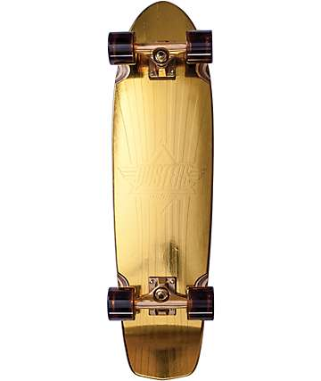 "Dusters Keen Prism Gold 31"" Cruiser Complete Skateboard"
