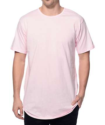 EPTM. Elongated Light Pink Long T-Shirt