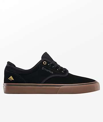 Emerica Wino G6 Black & Gum Suede Skate Shoes