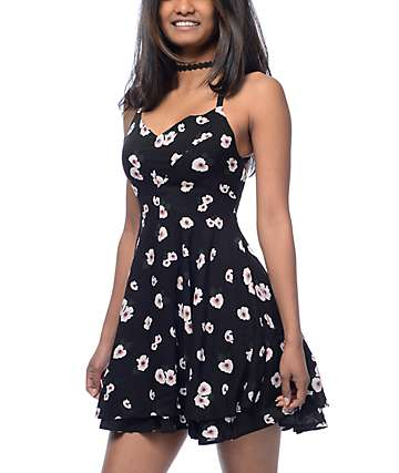 Empyre Bellamy Black Floral Dress