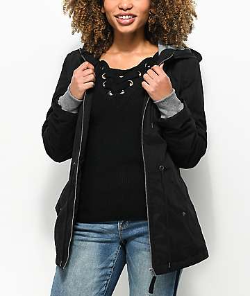 Empyre Delray Black Hooded Zip Jacket