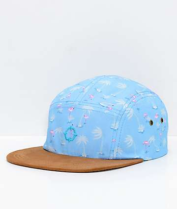 Empyre Flamingogo Blue 5 Panel Strapback Hat
