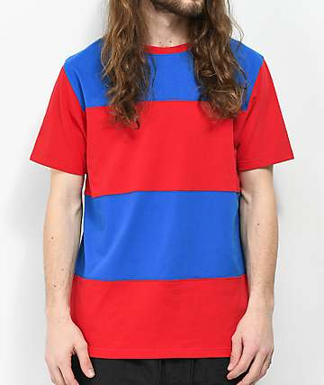 Empyre Freeway Red & Blue Colorblock T-Shirt