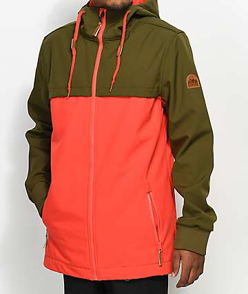 Empyre Headwall Olive & Red 10K Softshell Jacket