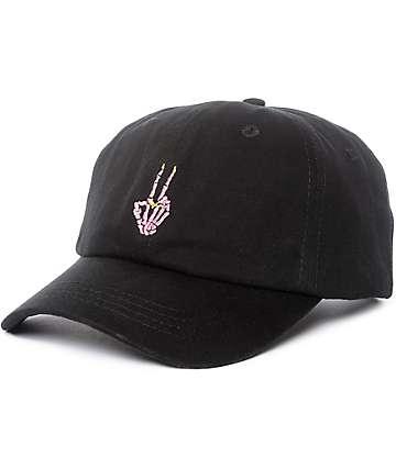 Empyre I Ain't Sorry Skeleton Hand Black Strapback Hat
