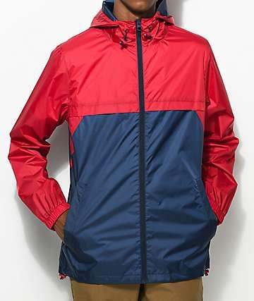 Empyre Jet Full Zip Navy & Red Anorak Jacket