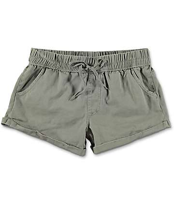Empyre Laurel Olive Twill Rolled Shorts