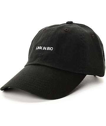 Empyre Link In Bio Black Strapback Baseball Hat