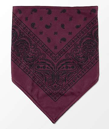 Empyre Paisley Maroon Facemask