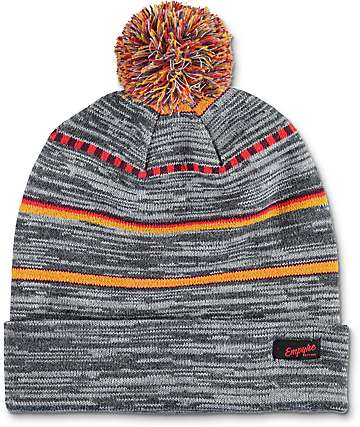 Empyre Rant Charcoal Pom Beanie