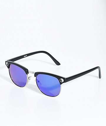 Empyre Retro Yin To My Yang Green & Blue Sunglasses
