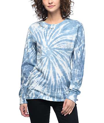 Empyre Rubino I Tried Light Blue Tie-Dye Long Sleeve T-Shirt