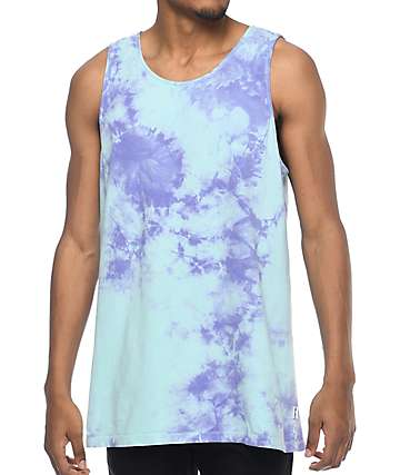 Empyre Runner Blue & Purple Tie Dye Tank Top