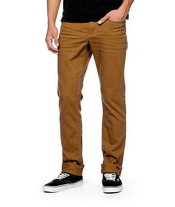 Empyre Skeletor Dark Khaki Skinny Fit Jeans