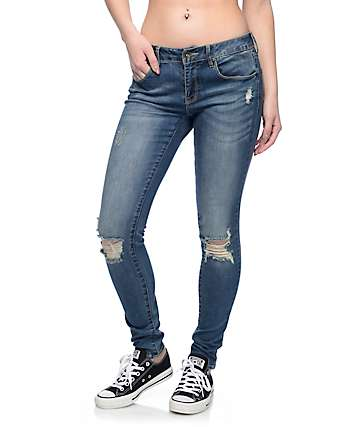 Empyre Tessa Medium Tidal Destroyed Skinny Jeans