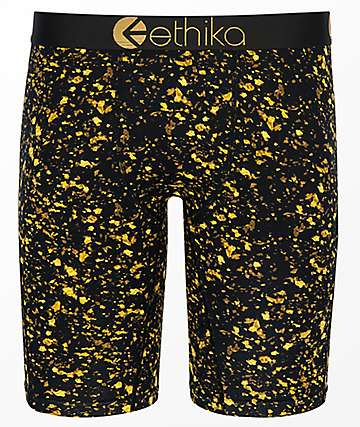Ethika Gold Flakes Black & Gold Boxer Briefs