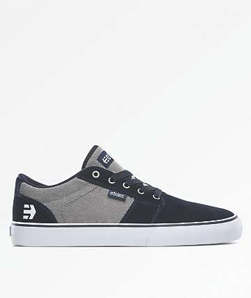 Etnies Barge LS Navy, Grey & Silver Shoes