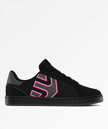 Etnies Fader LS Black & Dark Grey Skate Shoes