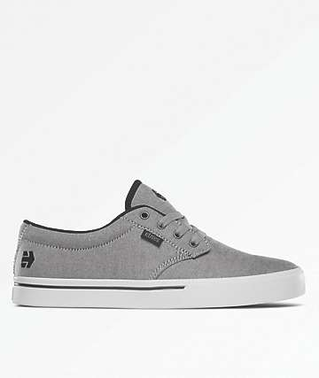 Etnies Jameson 2 Eco Black, Charcoal & Silver Shoes