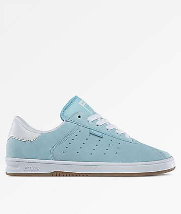 Etnies The Scam White & Light Blue Shoes