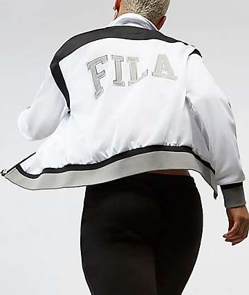FILA Deanna White, Black & Silver Zip Jacket