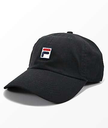 FILA Heritage Black Strapback Hat