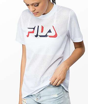 FILA Liona Black Mesh T-Shirt