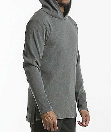 Fairplay Lawson Hooded Long Sleeve Knit Charcoal Shirt