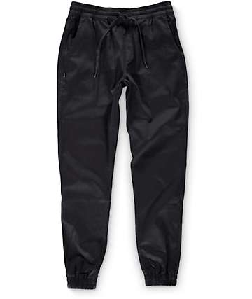 Fairplay Runner Black Jogger Pants