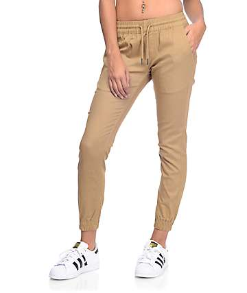 Fairplay Runner Khaki Jogger Pants