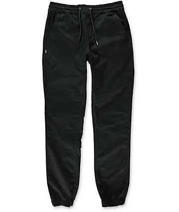 Fairplay Vischer Moto Black Jogger Pants
