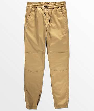 Fairplay Vischer Moto Khaki Jogger Pants