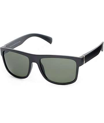 Flat Top Matte Black Sunglasses
