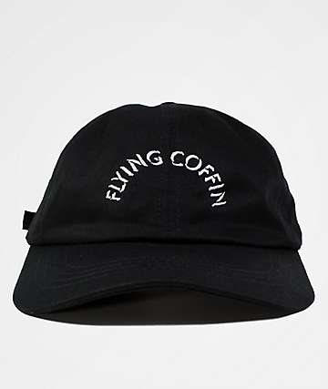 Flying Coffin Arc Logo Black Dad Hat