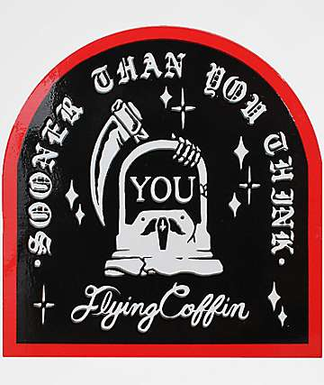 Flying Coffin Sudden Death Sticker