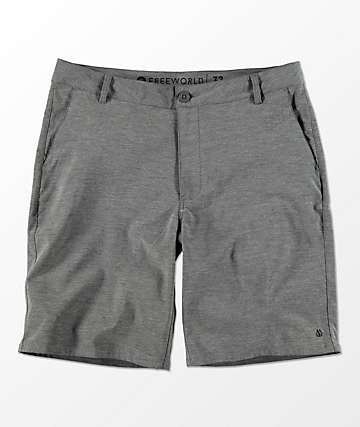 Free World Glassy Charcoal Stretch Hybrid Shorts