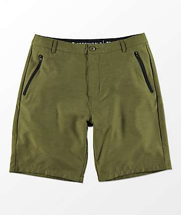Free World Maverick Olive Hybrid Shorts