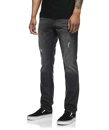 Free World Messenger Black Thunder Wash Skinny Jeans