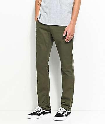 Free World Messenger Olive Twill Skinny Jeans
