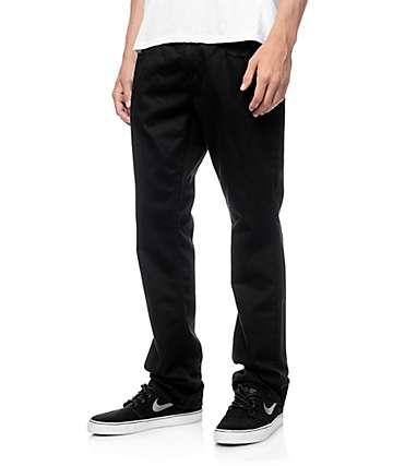 Free World Night Train 5 Pocket Black Twill Pants