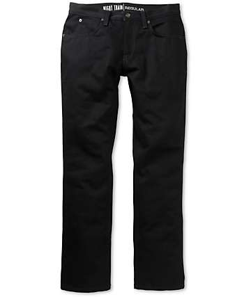 Free World Night Train Black Denim Regular Fit Jeans (Past Season)