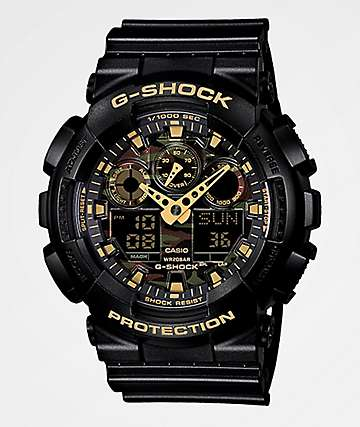 G-Shock GA100 Woodland Camo Chronograph Watch