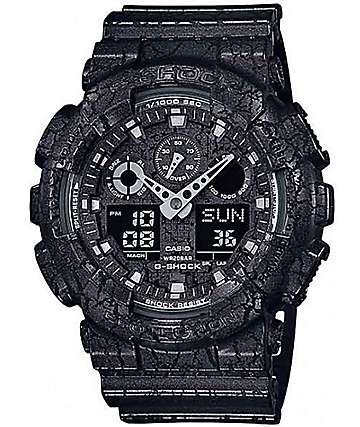 G-Shock GA100CG-1A Cracked Ground Black Watch