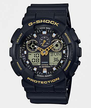 G-Shock GA100GBX Black & Gold Watch