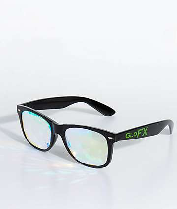 GloFX Ultimate Kaleidoscope + Diffraction Black Glasses