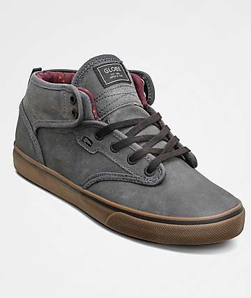 Globe Motley Mid Dark Shadow & Tobacco Skate Shoes