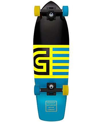 "Gold Coast Jetty Blue 28"" Cruiser Complete Skateboard"