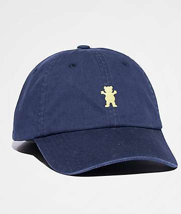 Grizzly OG Bear Logo Navy & Yellow Dad Hat
