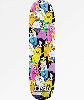 "Grizzly x Adventure Time Like Your Brain And Stuff 8.37"" Skateboard Deck"