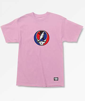 Grizzly x Grateful Dead Grizzly Dead Pink T-Shirt